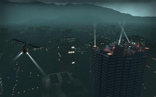 """Fuga de helicoptero de topo do hospital. Helicoptero esse que se acidenta no começo da nova campanha """"Crash Course"""""""