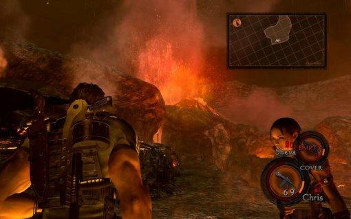 """Detalhe para o efeito de particulas na lava. Iluminação """"fraca"""" também não é?"""